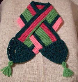 Free Crochet Pattern - Keyhole Scarflet scarves and ...