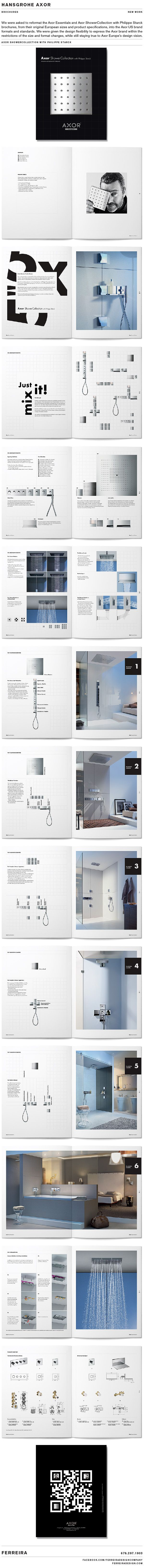 Axor Shower Collection with Philippe Starck. Brochure by Ferreira Design…