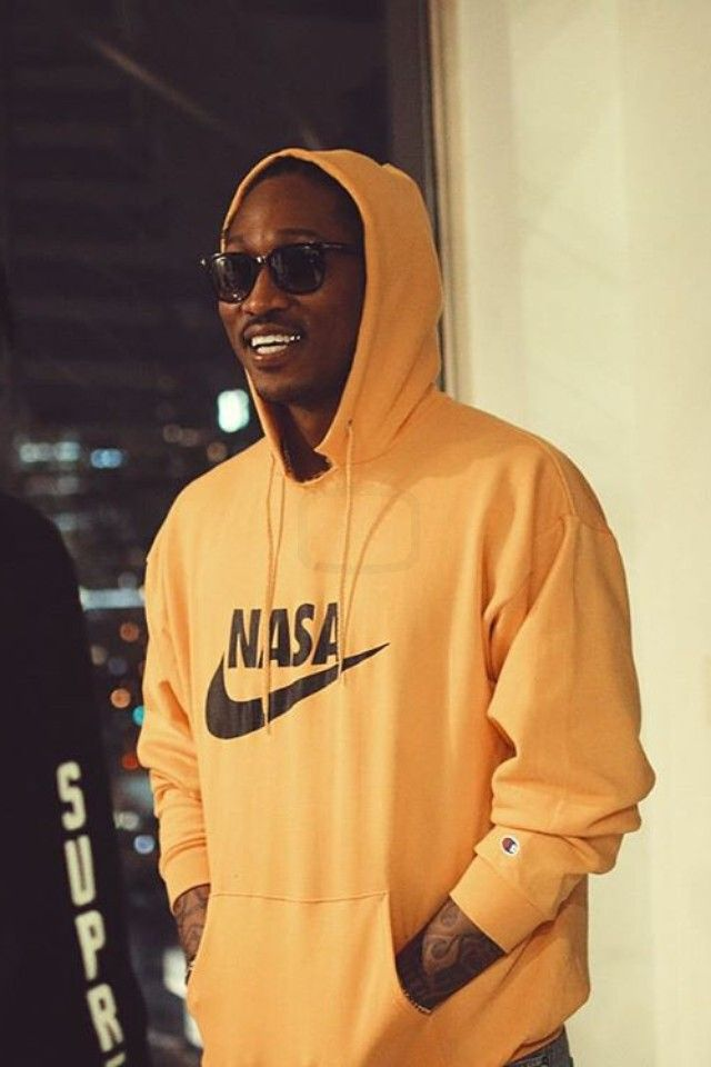 Future (Rapper) wearing VFiles Nasa Hoodie, Tom Ford Campbell Plastic Sunglasses