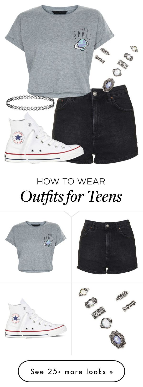 """jade insp"" by bekahtee on Polyvore featuring Topshop, New Look, Converse and Forever 21"