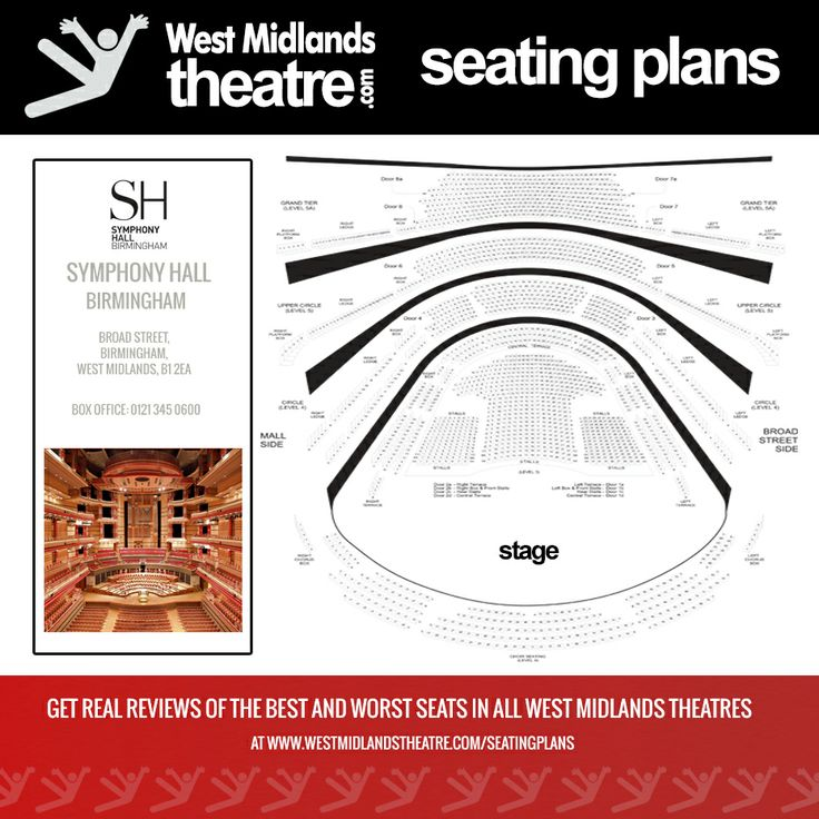 West Midlands Theatre Seating Plan For The Symphony Hall