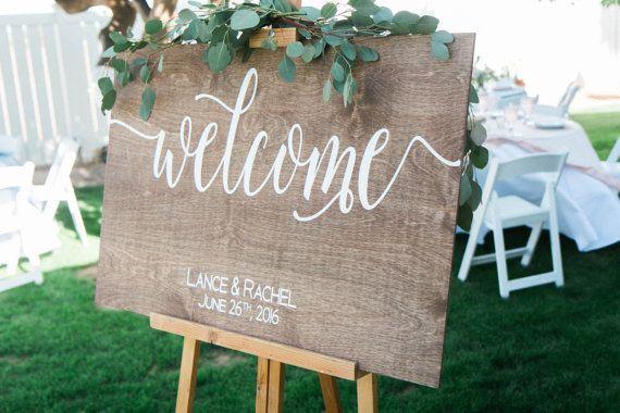 Boda signo signo positivo boda signo, letrero de madera boda bienvenida, cartel de bienvenida de madera, madera boda signo bienvenida muestra, W