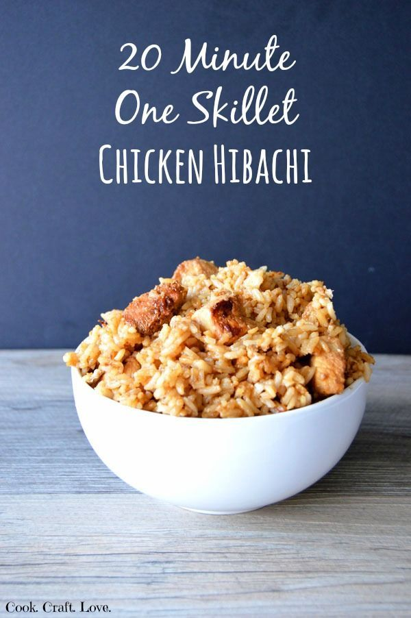 What's better than chicken hibachi?  Homemade chicken hibachi in just 20 minutes and one skillet!  Make this easy, flavorful chicken hibachi recipe and wow your family at dinner time!