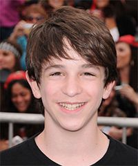 Zachary Gordon  Hairstyle: Casual Medium Straight Hairstyle