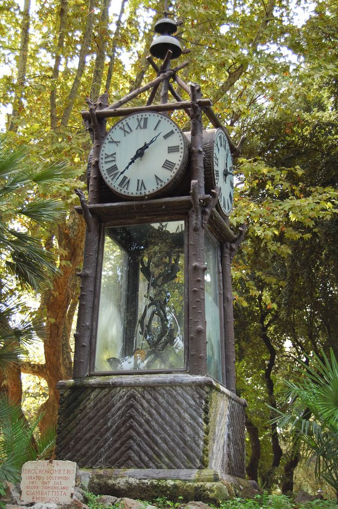 Horloge eau jardins de la villa borghese rome - Jardin d italie chateauroux ...