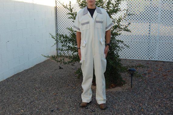 Bill Parry Men's White Jumpsuit//Vintage by PIVOT180 on Etsy, $25.00