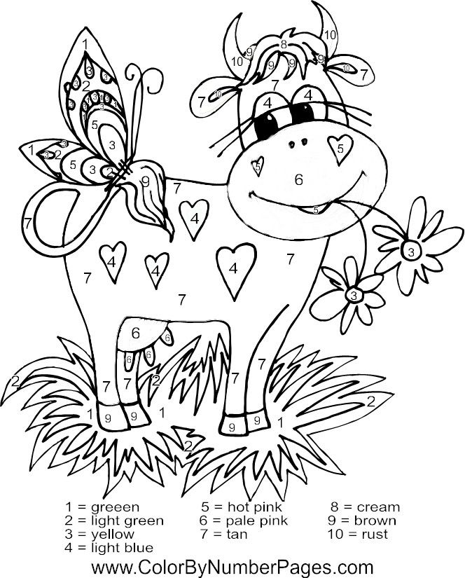 Printable Color By Number Coloring Pages Az Coloring Pages Cow Coloring Pages Summer Coloring Pages Coloring Pages