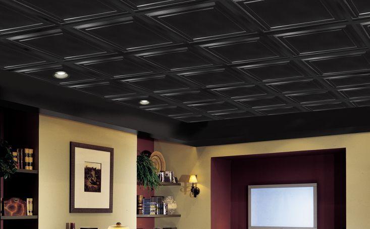 Black Suspended Ceiling Tiles Suspended Kitchen Ceiling
