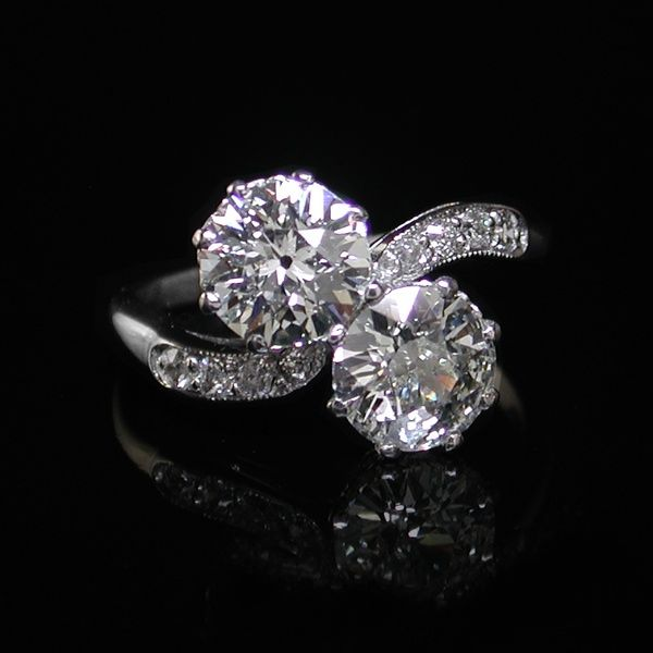 ring design two diamonds - Google Search