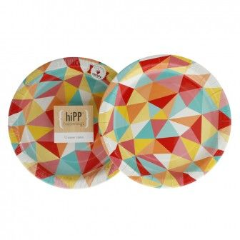 COLOURFUL Hipp PLates 23cm 12 pack for $6.95
