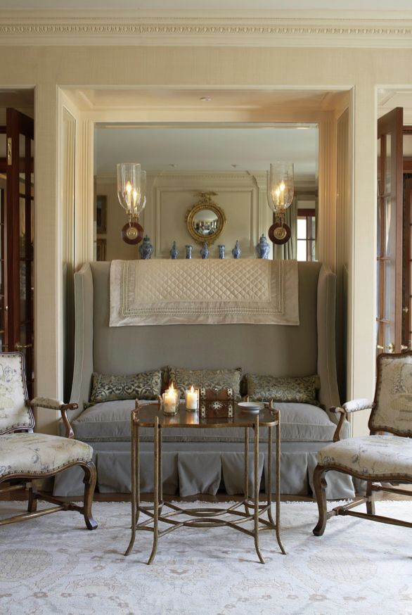 In A Living Room By Trisha Reger The Tracery In A Custom Handmade Rug  Complements The