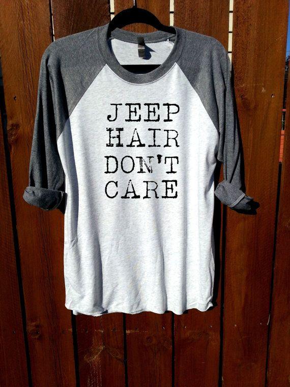 women shirt,women clothing,fashion shirt, unisex shirt,heather grey/heather white,jeep hair don't care,women tee,tee,funny shirt