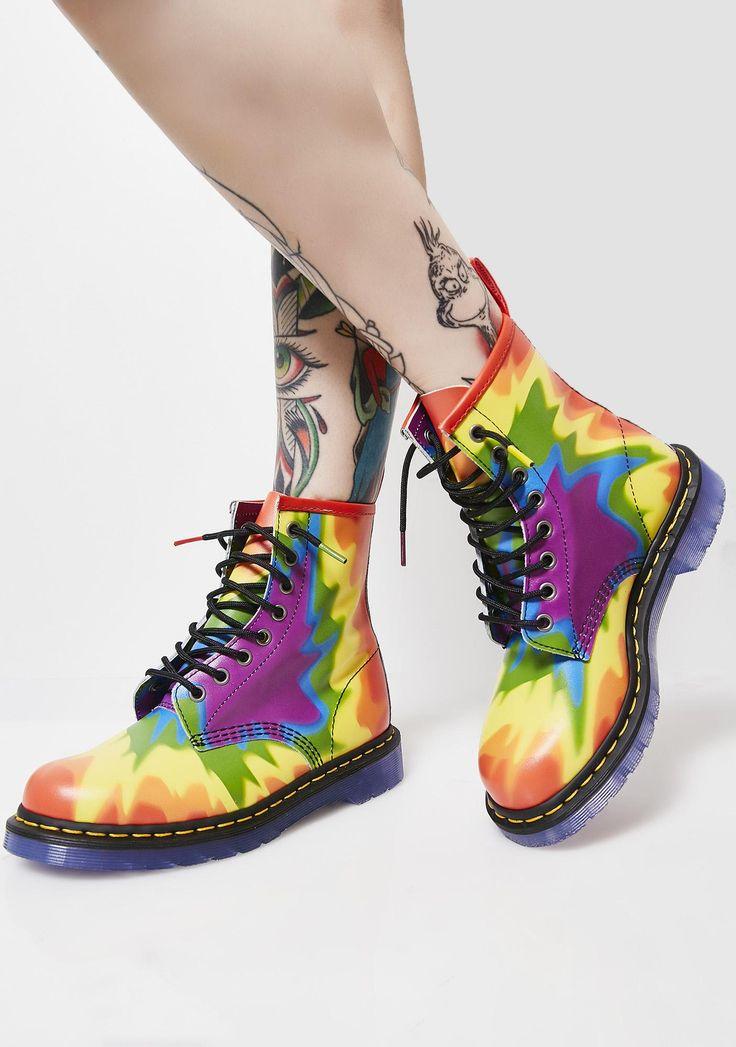 1460 Pride Tie-Dye Boots. Dr. Martens ...