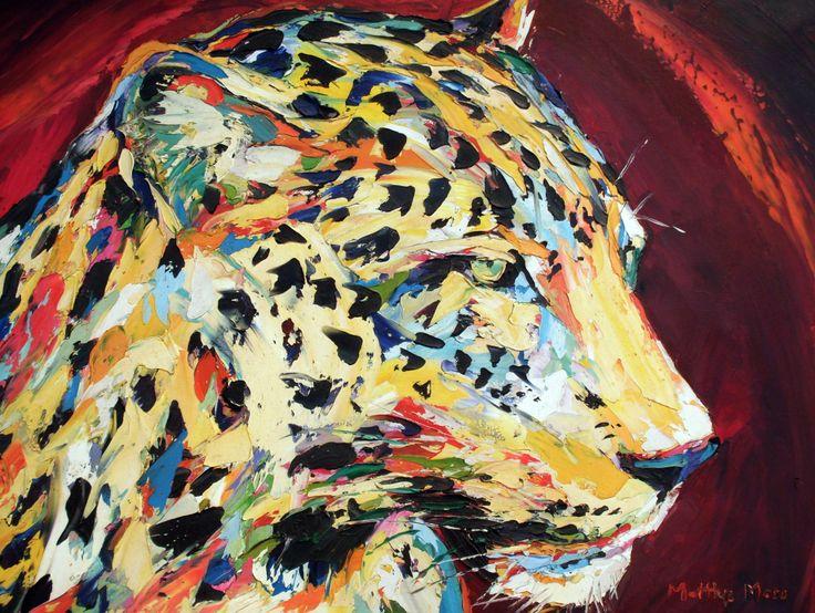 LEOPARD SPIRIT, oil on canvas by Matthys Moss.