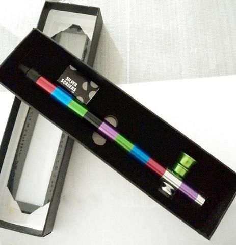 Quality Metal Smoking Pipe - Colorful Multi Sections
