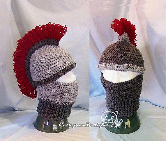 36 best crochet helmets images on pinterest hard hats helmets and greek trojan helmet ski mask instant download crochet pattern5 sizes child adult dt1010fo