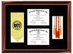 Certificate Frames Lithograph Diploma Frame Award Graduation Gifts Medallion Custom Framing College University Honors Degree Graduate Gift School High School Certification Plaque Tassel Tassle