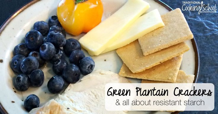 These green plantain crackers are a great first food for those healing their guts! Eat them sweet or savory, and enjoy all the benefits of resistant starch!