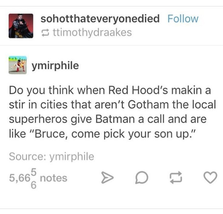 Bruce come pick up your son