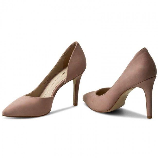 Pantofi cu toc subțire BRONX - 75001-H BX1245 Powder 2006