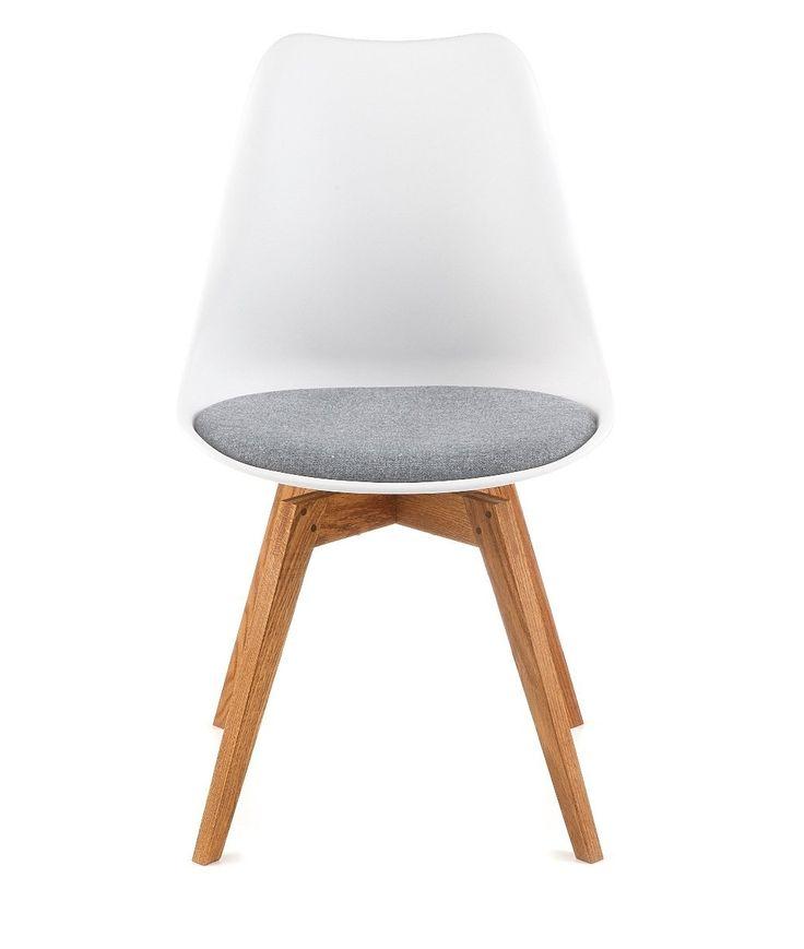 designbotschaft: Davos Stuhl Weiß/Grau/ Eiche - Esszimmerstühle 1 Stck: Amazon.de: Küche & Haushalt