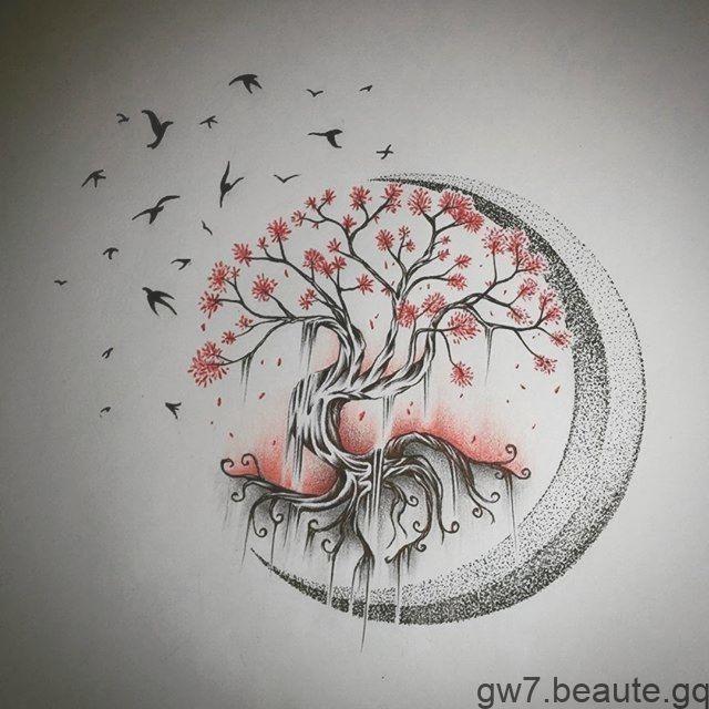 arbre de la lune de la vie