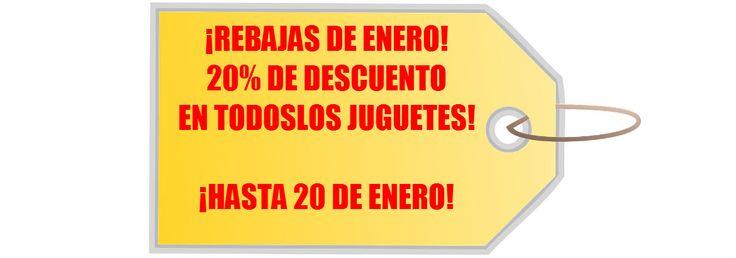 MAÑANA COMIENZAN LAS REBAJAS! 20% DE DESCUENTO EN TODOS LOS PRODUCTOS DE LA TIENDA, HASTA FIN DE EXISTENCIAS. SI NO LO VES EN LA TIENDA, YA SABES, ESTÁ AGOTADO. ¿PREPARADO? #rebajas #ofertas #juguetes