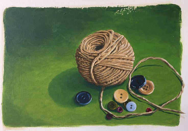 Oil painting by Fiona Verdouw