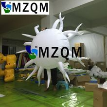MZQM 2m inflatable star wedding Stage and night club decoration Hanging lighting LED inflatable star display for sale(China)