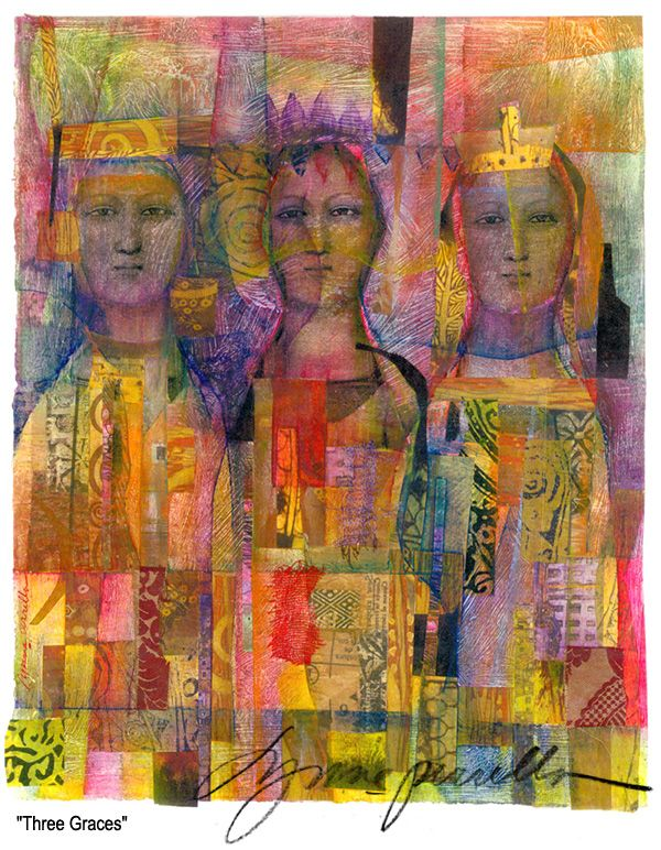 Lynne Perella. Mixed media - collage