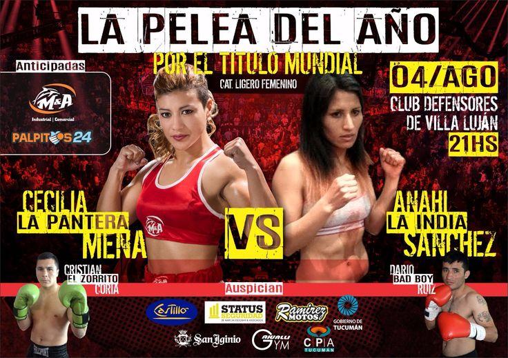 Boxeo por el título mundial en Tucumán