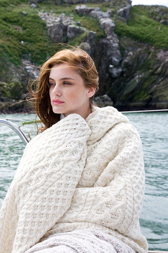 Wrapped in our Merino Wool Aran Throw