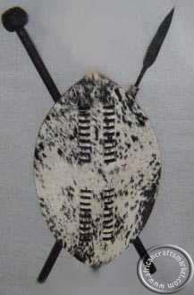 African 75 cm Zulu warrior shield