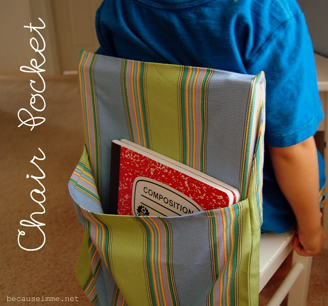 Seat Sac....I would LOVE these for my reading table.  I need to get sewing this summer!