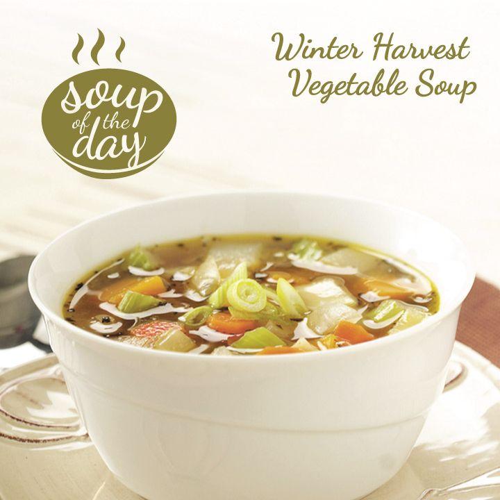 Winter Harvest Vegetable Soup Recipe from Taste of Home -- shared by Barbara Marakowski of Loysville, Pennsylvania