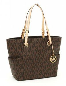 MICHAEL Michael Kors Jet Set MK Logo-print Signature Tote Brown. This is the one i want!!Love It