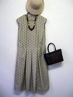 麻の葉模様の大島紬:着物リメイク・洋裁教室 OHANA                                                                                                                                                                                 もっと見る