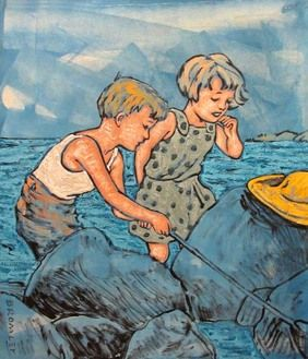 David Bromley (Australia) | Children Playing by the Sea (2008)