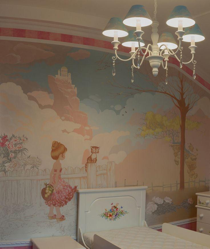 Декоративная роспись   детской комнаты для девочки  Санкт-Петербург    Мазанов А.,Фроловский Д.