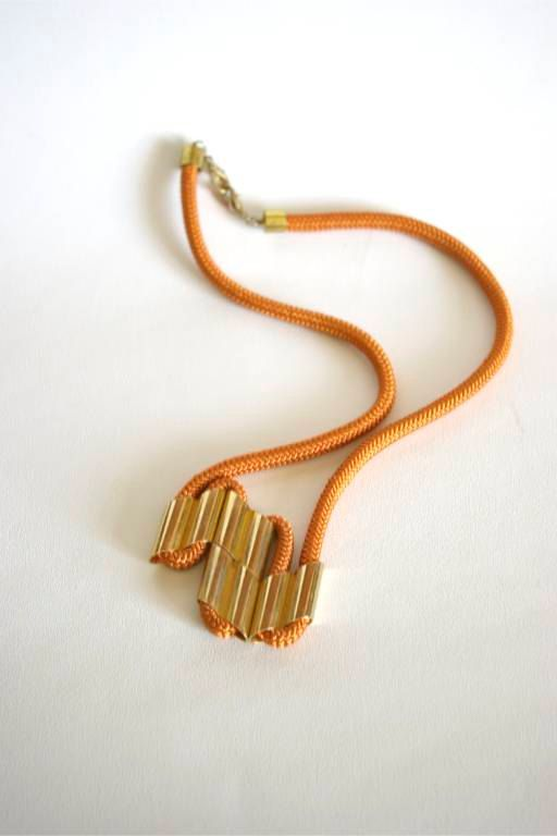 Rope Necklace; would like it more if the rope was a mint green or black.