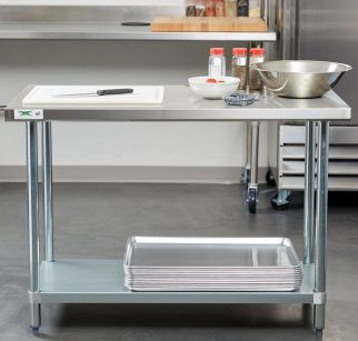 16 captivating stainless steel prep table for your best kitchen furniture. beautiful ideas. Home Design Ideas