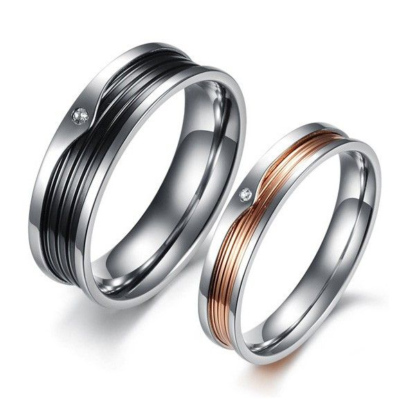 Cheap Wedding Bands For Women: Cheap Engagement Rings For Men And Women Set Of Two
