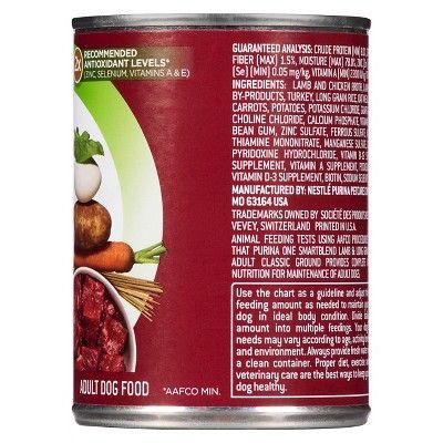 Purina One Smart Blend Dog Food, Ground Lamb & Long Grain Rice, 13 oz