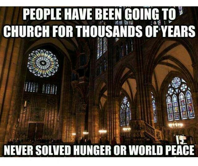 "In fact, I think it's safe to say that as long as there is ""Religion"", there will never be World Peace."