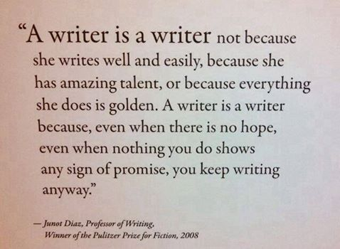We are who we are. Impatient, irritable, and crazy. But we are also forgiving, remembering, and courageous. Be the writer you are, no matter how long it takes.