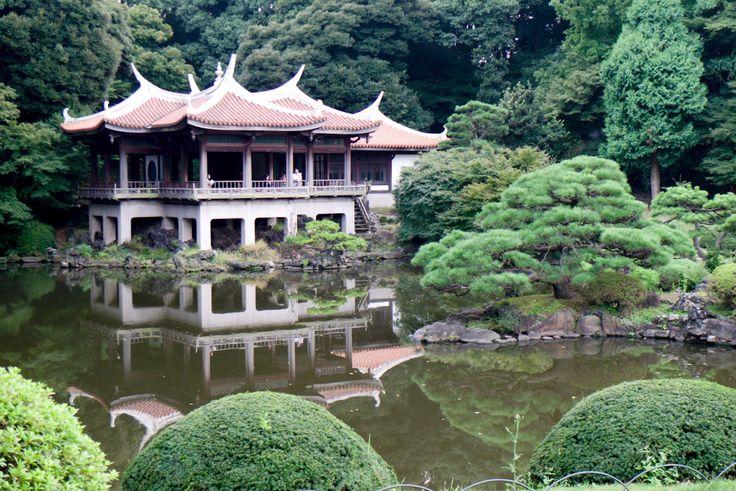 Shinjuku Gyoen National Garden is a large park with an eminent garden in Shin...