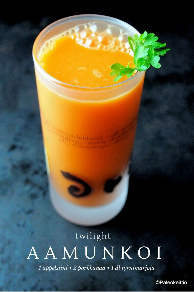 Porkkana-appelsiini-tyrnimehu | paleokeittio.fi