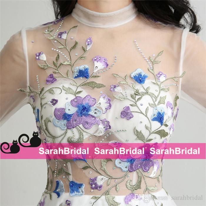 2017 New evening dresses Sebastian Inspired Real Luxury Designer Tea Length Evening Dresses with Delicate Embroidered Prom Gowns Formal Wear