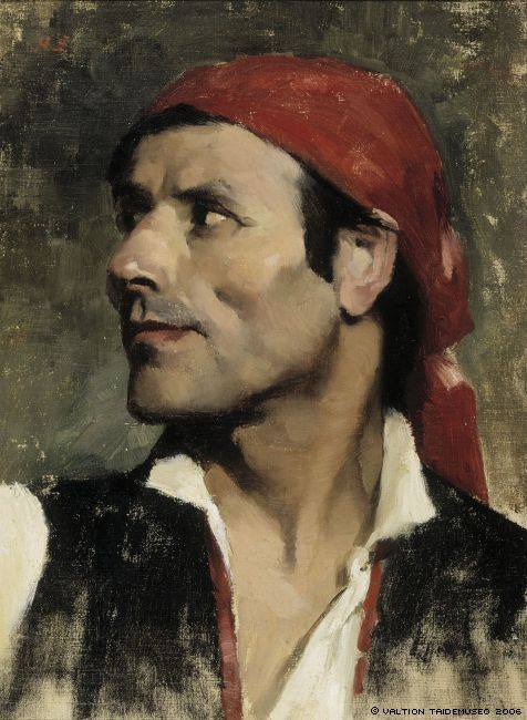 The Athenaeum - Spaniard (Helene Schjerfbeck - )