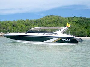 Anda - 38ft speed boat built in Pattaya, Thailand. She carries max of 26 passengers and perfect for group of 18 passengers. With a top speed of 35 knots and a cruise speed of 26 knots.